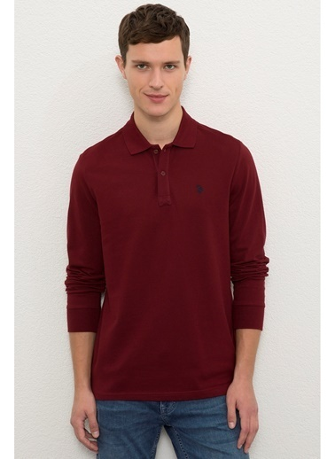 U.S. Polo Assn. U.S. Polo Assn.  Bordo Erkek Sweatshirt Bordo